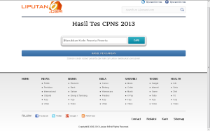 situs pengumuman test cpns 2013